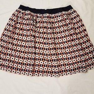J. Crew Sz. 8 Silk Geometric Skirt